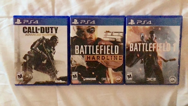 3 Sony ps4 game cases