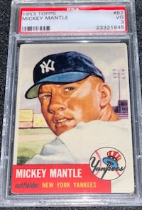 1953 Topps Mickey Mantle PSA 3 VG Chicago, 60611