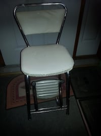Neat vintage counter chair/with hand stepstool...firm price... Corbyville