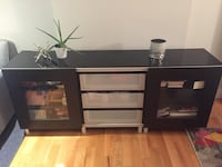 Dark brown IKEA media unit Toronto
