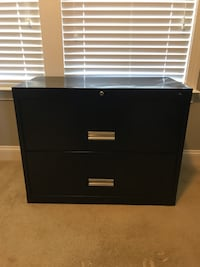 Black metal 2-drawer filing cabinet Ashburn, 20147