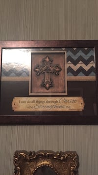 brown and blue religious quote board Raceland, 70394