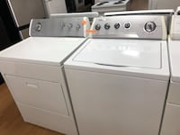 Whirlpool white washer and dryer set  29 mi