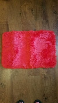 Brand New Red Fuzzy Rug