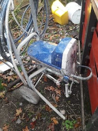 blue and gray pressure washer