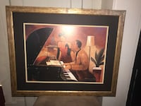 brown wooden framed painting of woman Cleveland Heights
