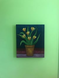 Green and yellow flower painting Montréal, H2T 1G3