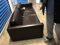 Brown leather sofa very good condition  Fairfax, 22033