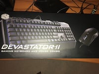 black Devastator 2 gaming keyboard and mouse combo box