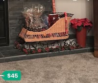 Wicker and iron sleigh  Bakersfield