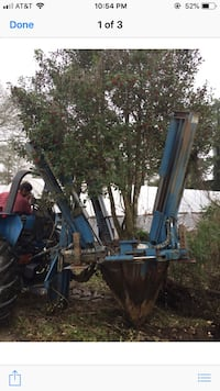 Plant digger (hooks onto tractor)