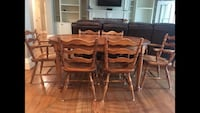 brown wooden dining table set Acworth