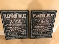 (One left) Black and white game room pictures Centreville