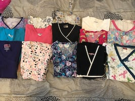 Scrub tops-small