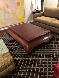 Coffee table with inlaid ostrich leather top Cherry Hill, 08002