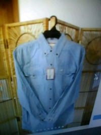 New mens denim shirt w tag Omaha, 68022