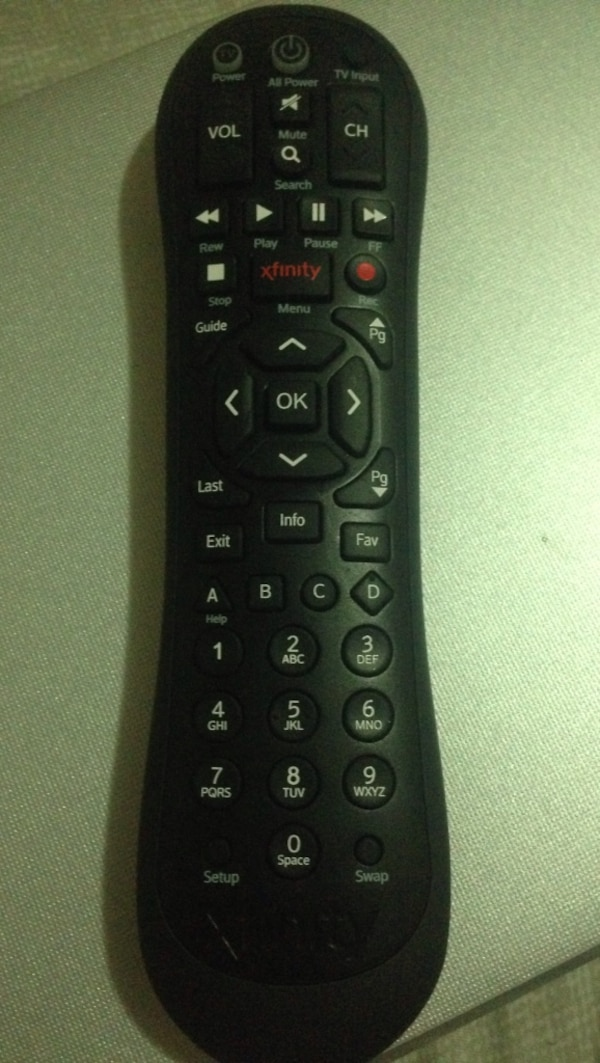 Comcast xfinity remote
