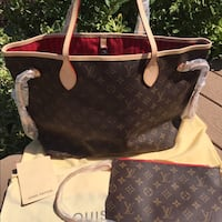 monogrammed brown Louis Vuitton leather bag