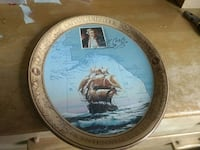 blue and brown decorative plate Victoria, V9A 3M7