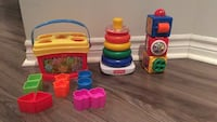 Fisher Price baby's first blocks, rock-a-stack & stacking action blocks 793 km