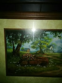 Beautiful picture has old car in it very nice