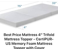 Mattress pad or floor bed- see description for details & size Pineville, 28226