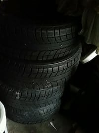four black auto winter tire set 215 60 16 Toronto, M9M 1W9
