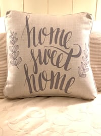 """Brand new pillow with sweet Home Sweet Home sentiment. Measures 18"""" x 18"""". Never used! Came on a new sofa and I already had enough throw pillows Potomac, 20854"""