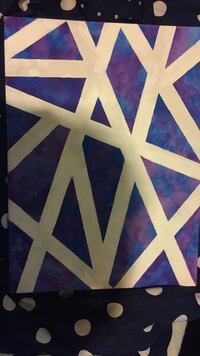 purple and white abstract painting El Dorado, 71730