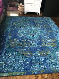 blue and green floral area rug Chicago, 60647