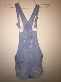 Women's blue denim sleeveless dress 466 km