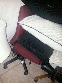 Red cloth adjustable chair 3 settings
