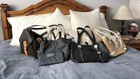 two black and white leather tote bags San Diego, 92105