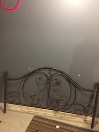 Rod iron headboard fits double or queen