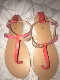 New! Guess women's strappy coral and nude sandal sz 8 Coral Springs, 33071