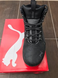 black PUMA leather lace-up bootie with box Toronto, M1N 4B9