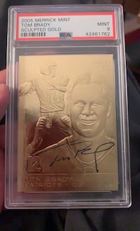 2005 Merrick Mint Tom Brady Sculpted Gold Card!!! PSA 9 El Paso, 79904