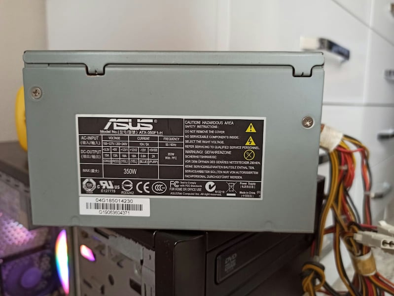 350w Asus Power Supply 9bb0aafb-6258-4a83-bf55-3d80e5710aae