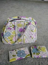 pink, white, and green floral backpack Attleboro, 02703