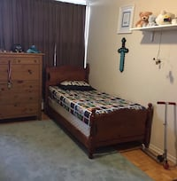 Single/Twin Bed Frame with Mattress/Boxspring Toronto, M3C