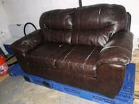 black leather 3-seat sofa Germantown, 20874