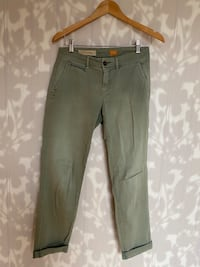 Anthropologie Green Slacks (size 26)