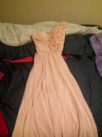 women's pink with flowers dress Grain Valley