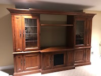 Cherry wood 3 piece entertainment center