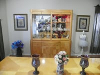 A Beautiful Solid Wood 2 Piece Dining Room China Cabinet With 3 Way Touch Lighting Only $200.00 Kissimmee