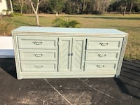 Dresser custom painted and sealed with wax. Wood piece. Inverness, 34453