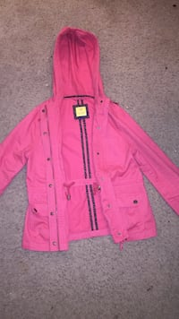 Pink button up hoodie
