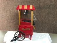 Popcorn Machine Cart, Red Movie Concession Air Pop Corn Stand Maker Liberty Township, 45044