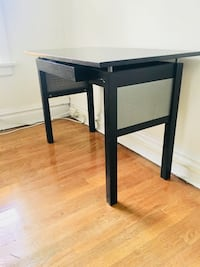 Dark stained desk with steel detail St. Louis, 63110