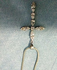 Cross with clear stones & chain. Edmonton, T5K 2A6
